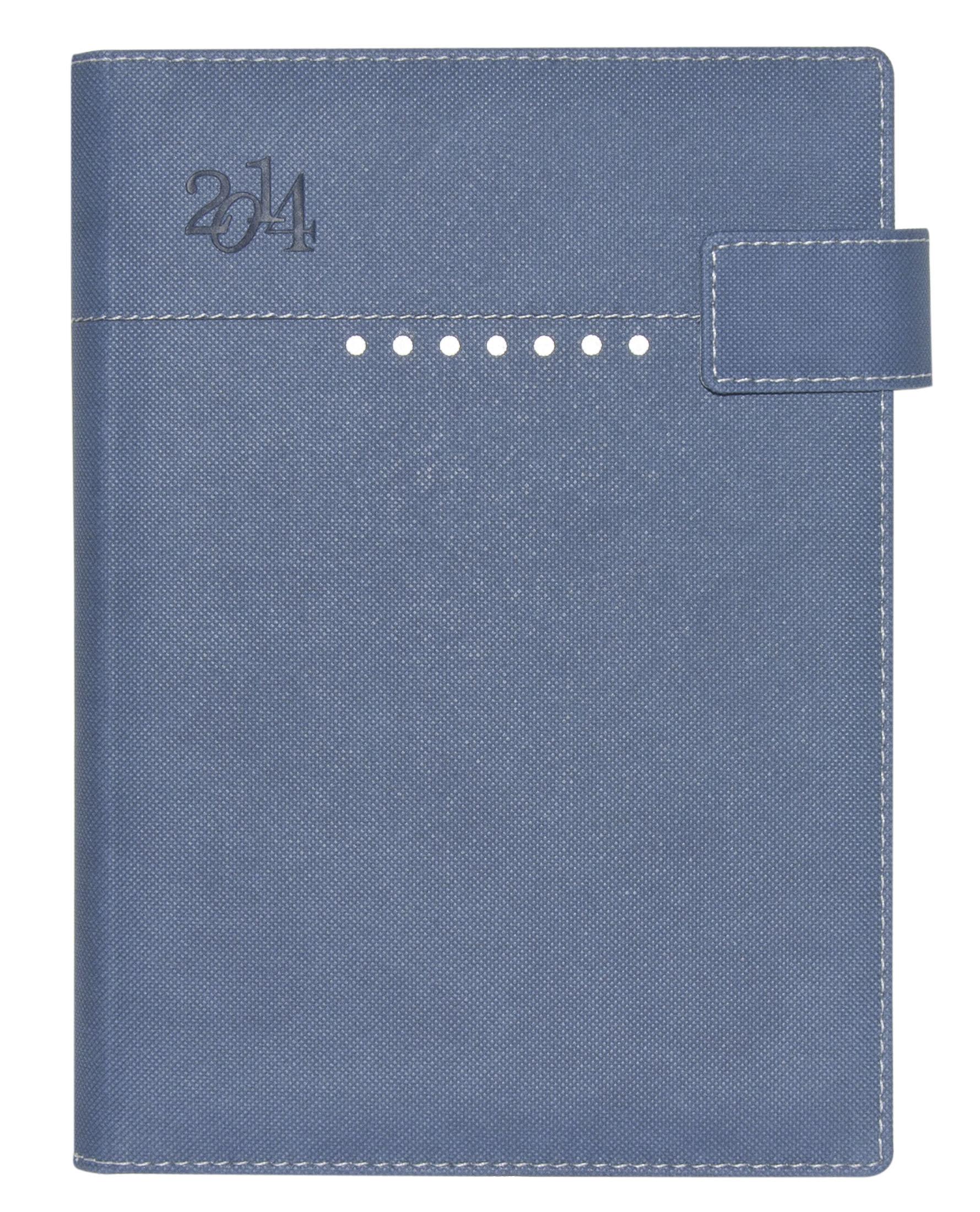 Agenda Azul con Broche Magnetico