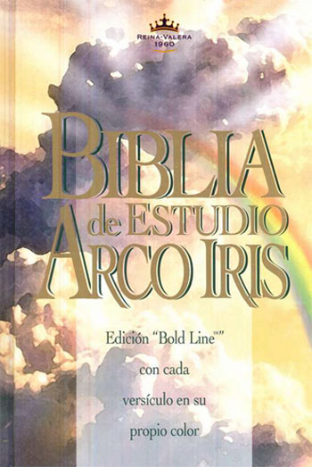 Biblia Arco Iris De Estudio RVR1960 tapa dura con indice