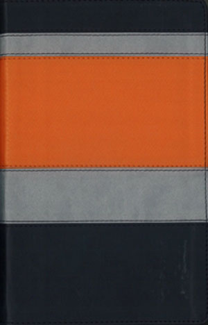 Biblia BIlingue G3 NVI-NIV Piel duotono negro-naranja