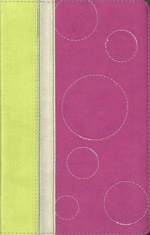 Biblia BIlingue G3 NVI-NIV Piel duotono rosado-verde