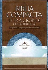 Biblia Compacta Letra Grande con Referencias RVR 1960 jean