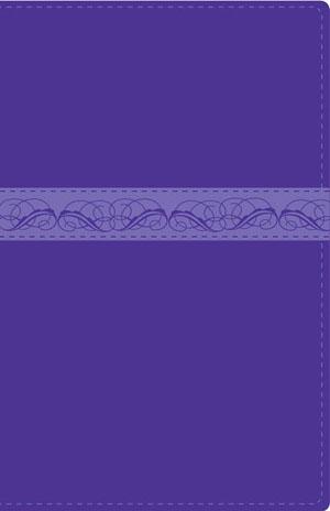 Biblia Mi Dia con Dios RVR60 - Piel italiana dos tonos morado/li