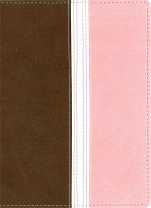 Biblia NVI UF Compacta Dos Tonos marron/rosada
