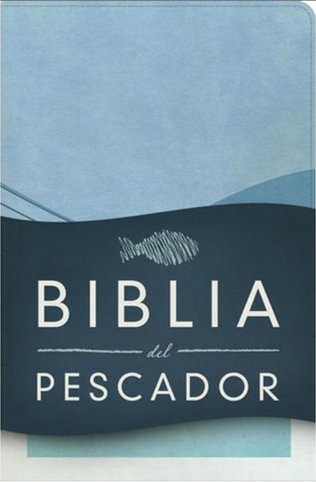Biblia del Pescador Azul Cobalto Simil Piel