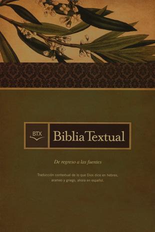 Biblia textual BTX Piel Elaborada Negra