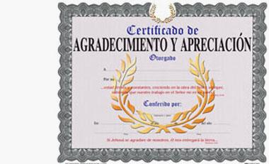Certificado De Agradecimiento Y apreciacion