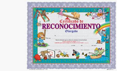 Certificado De Reconocimiento Infantil