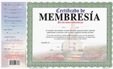 Certificado De Membrecia