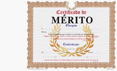 Certificado De Merito
