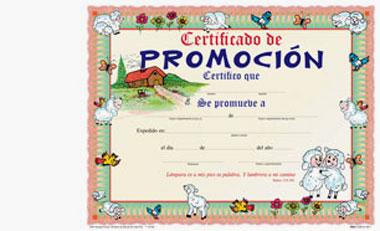 Certificado De Promocion Infantil