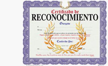 Certificado De Reconocimiento General