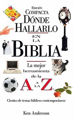 Donde Hallarlo En La Biblia de la A a la Z - ken anderson