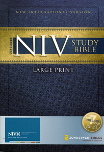 NIV Study Bible Hardcover Large Print