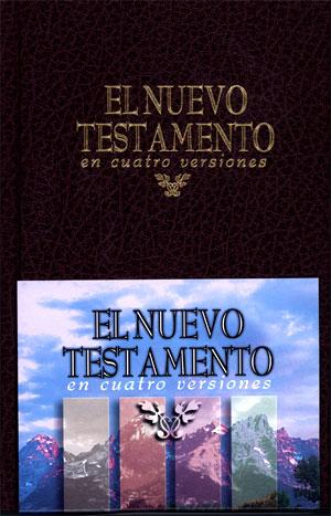 Nuevo Testamento En Cuatro Versiones tapa dura